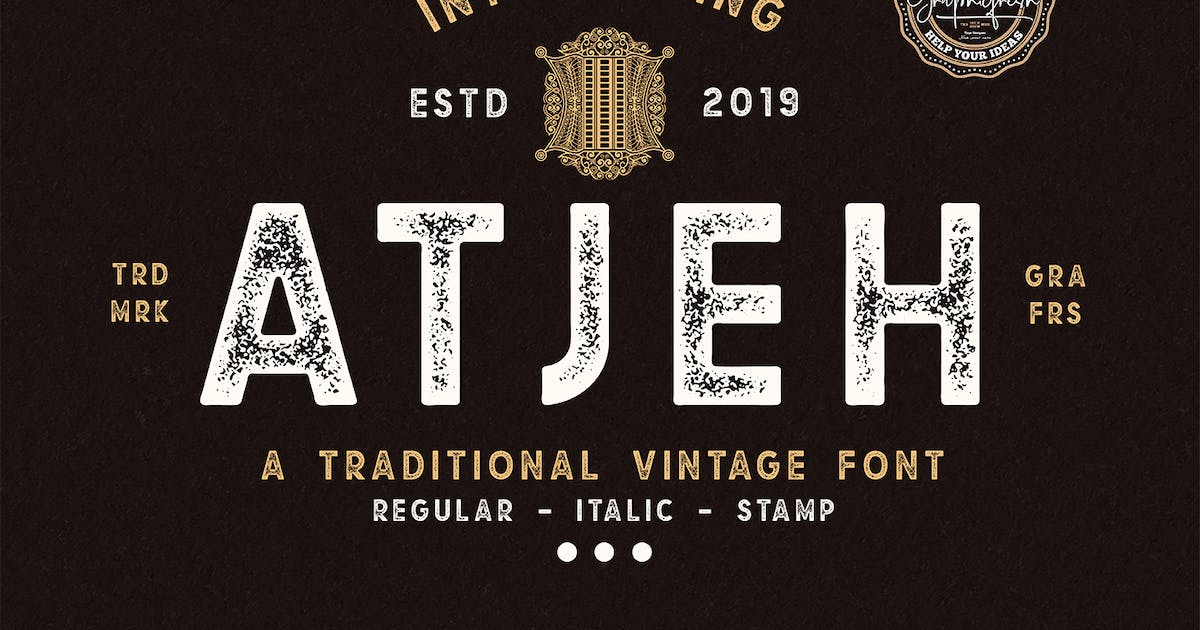 Atjeh - A Traditional Vintage Font by sameehmedia
