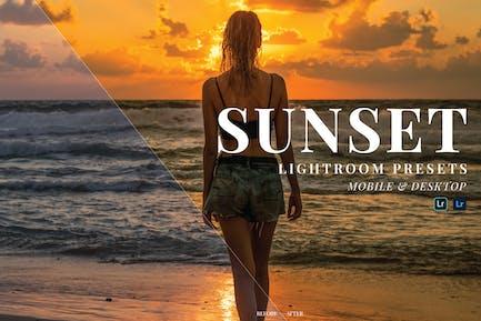 Sunset Mobile and Desktop Lightroom Presets