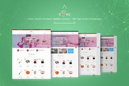 Cooku - Clean, Simple VirtueMart Joomla Template