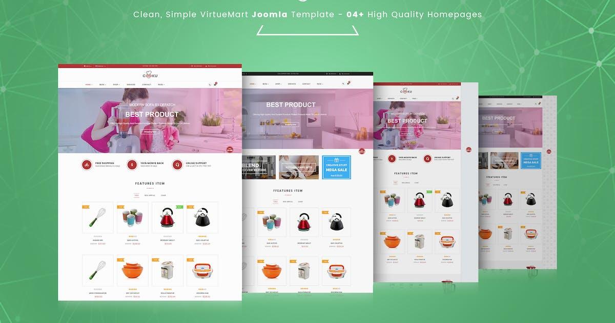 Cooku - Clean, Simple VirtueMart Joomla Template by vinagecko
