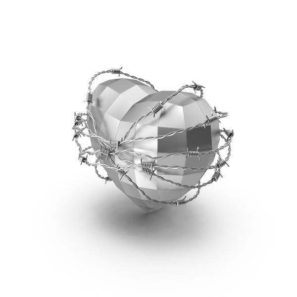 Steel Heart in Barbed Wire