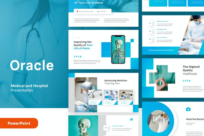 Oracle - Medical and Health Powerpoint Template