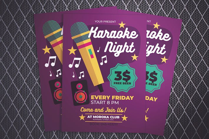 Thumbnail for Karaoke Night Flyer