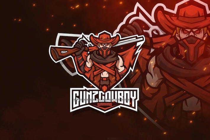 Thumbnail for Gunz Cowboy Esport Logo Template