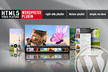 Reproductor de Vídeo HTML5 con lista de reproducción WordPress Plugin