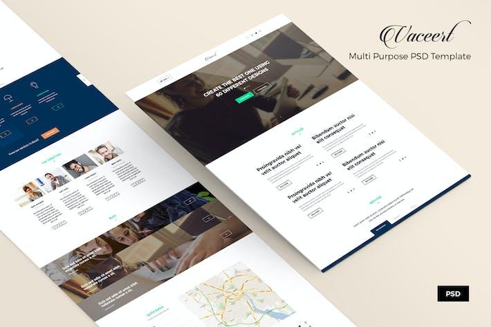 Thumbnail for Vaceert – Blog & Business PSD Web Template