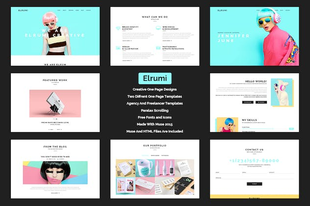 Elrumi - Creative Muse Template - product preview 3