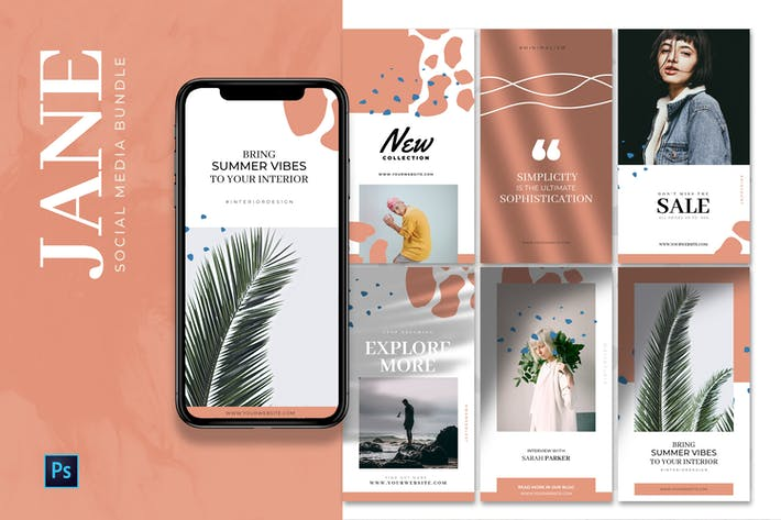 Thumbnail for Jane - Social Media Design Bundle