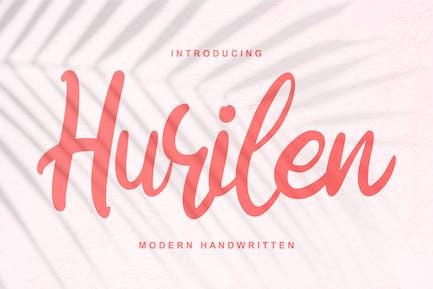 Hurilen   Modern Handwritten Script Font
