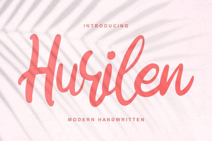 Thumbnail for Hurilen | Fuente de escritura moderna a mano