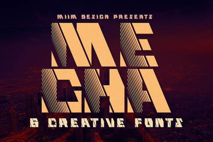 Thumbnail for Mecha - Display Font