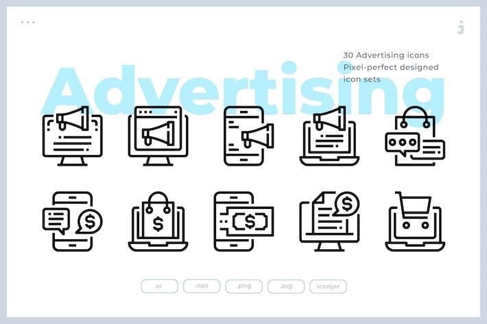 Thumbnail for 30 Рекламные Иконки
