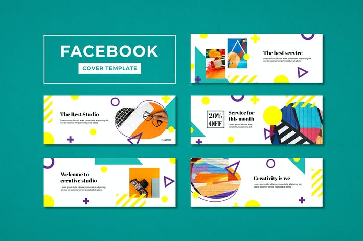 Thumbnail for Facebook Cover Template Creative Digital Agency