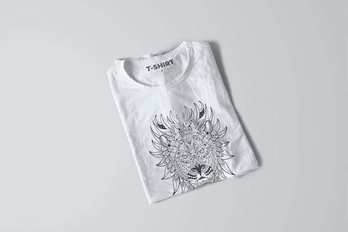 Thumbnail for Lion Mandala T-shirt Design Vector Illustration