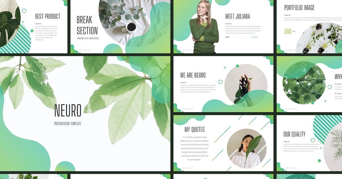 Download Neuro - Plant Keynote Template by inspirasign