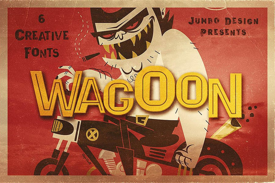 Wagoon - Funny Style Font