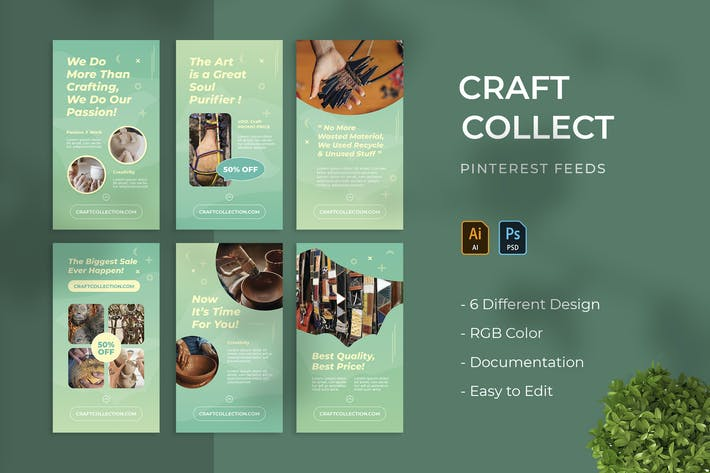 Craft Collect | Pinterest Post Template