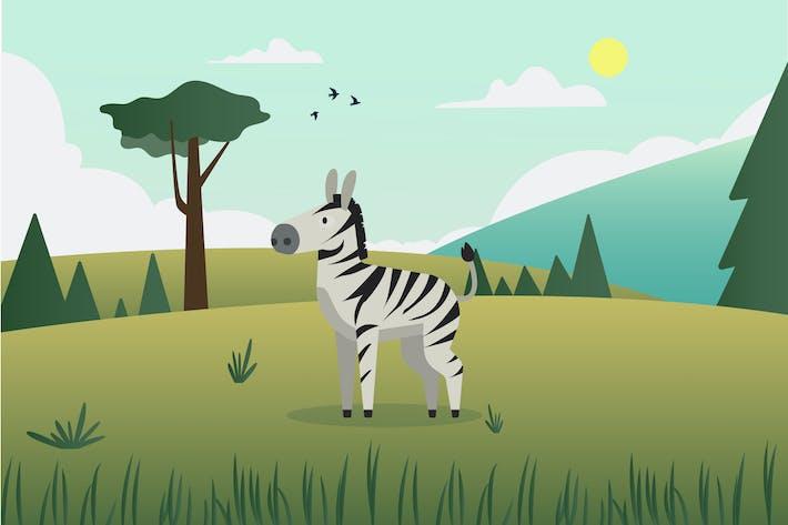 Thumbnail for Иллюстрация зебры
