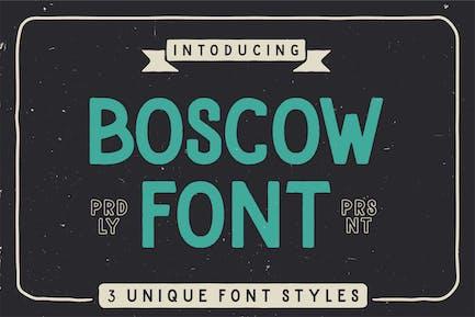Boscow Vintage Font BS