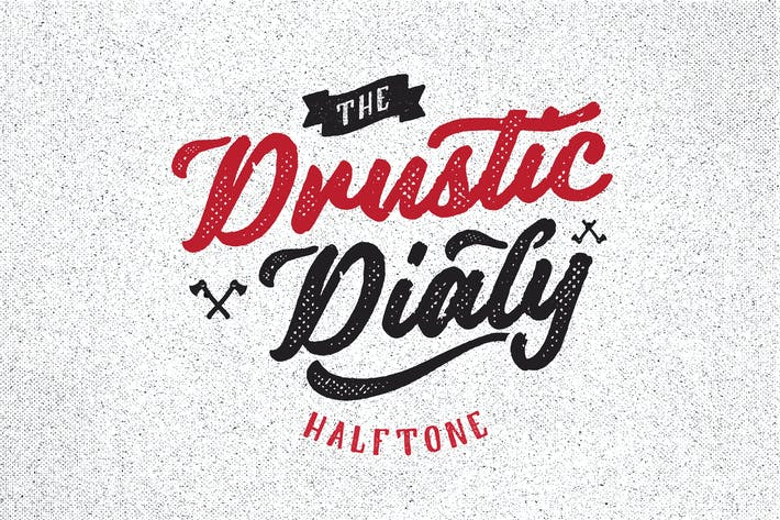 Thumbnail for Drustic Dialy Script Halftone