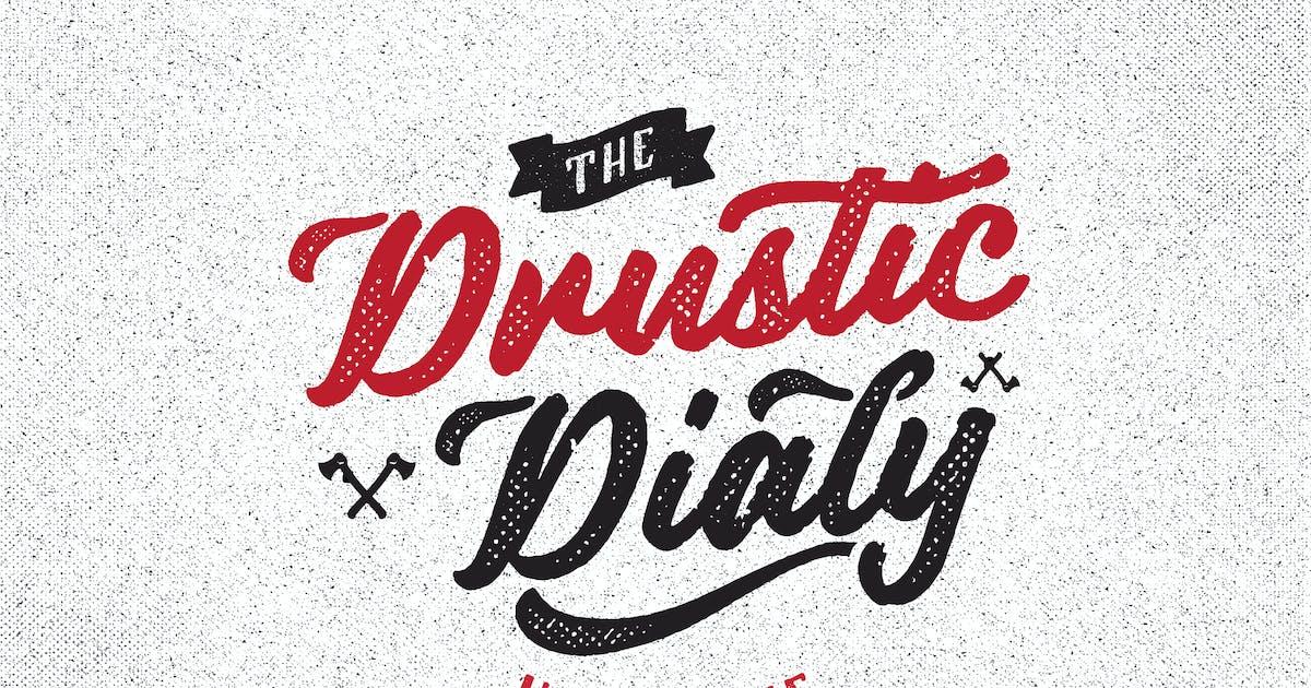 Download Drustic Dialy Script Halftone by adamfathony