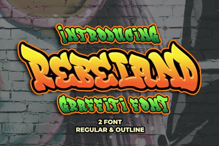 Thumbnail for Rebeland - Graffiti Font