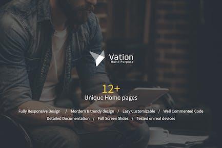 Vation | Responsive Mehrzweck-HTML5-Vorlage
