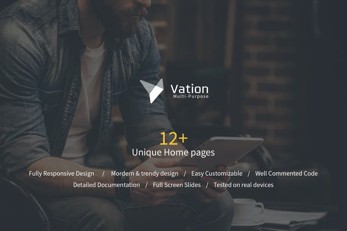 Cover Image For Vation | Responsive Multi-Purpose HTML5 Template