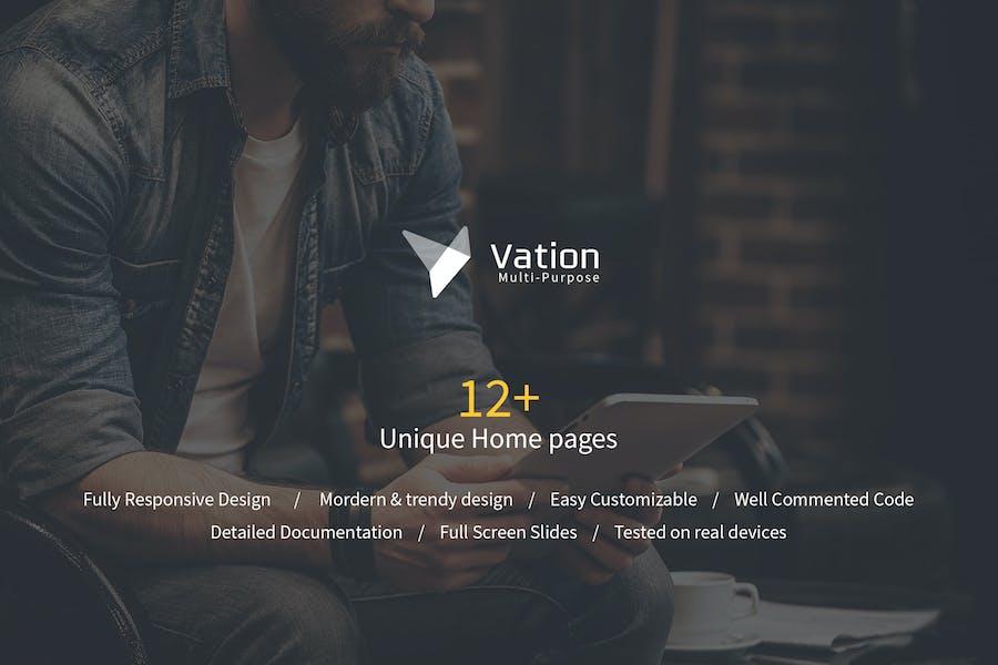 Vation   Responsive Multi-Purpose HTML5 Template