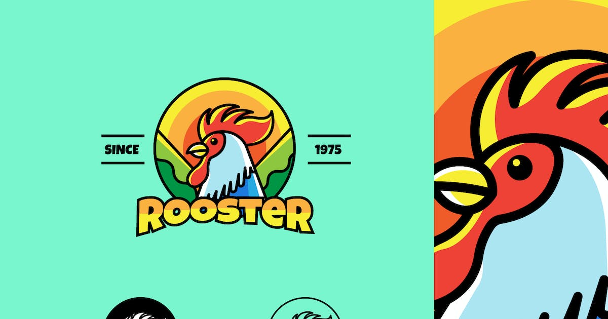 Download ROOSTER - Mascot & Esport Logo by aqrstudio