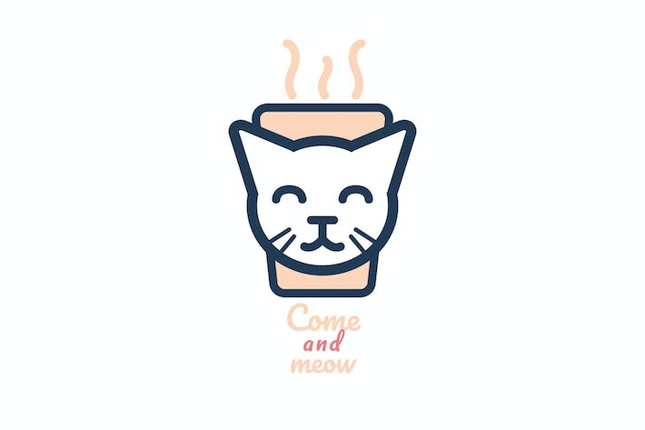 Thumbnail for Come And Meow Coffee Cat Logo
