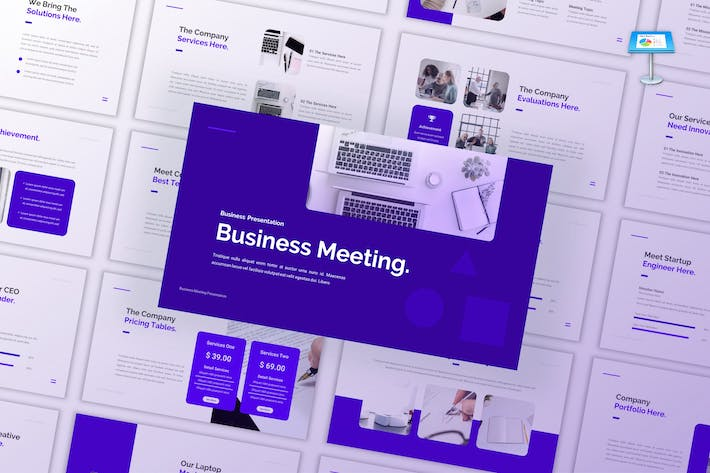Thumbnail for Business Meeting - Company Keynote Template