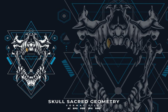 Thumbnail for Skull sacred geometry