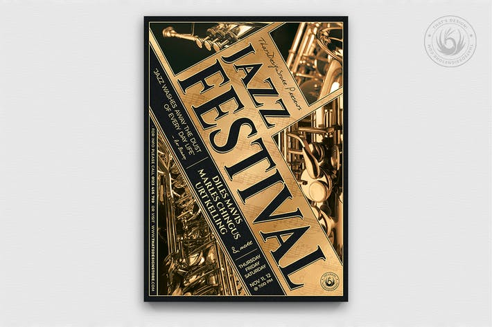 Thumbnail for Jazz Festival Flyer Template V1
