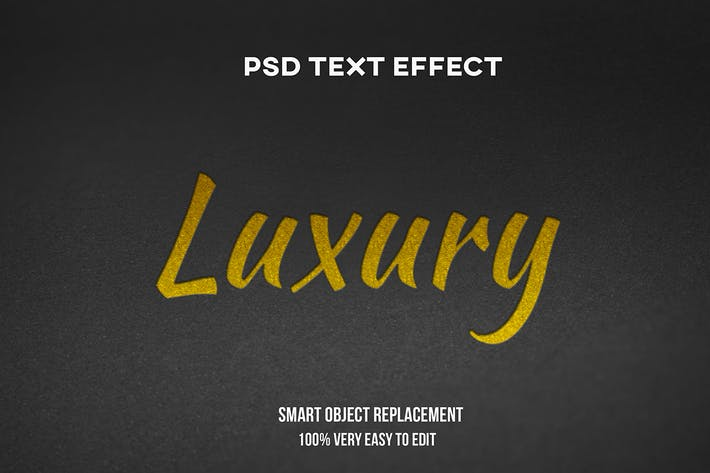 Paper luxury text effect