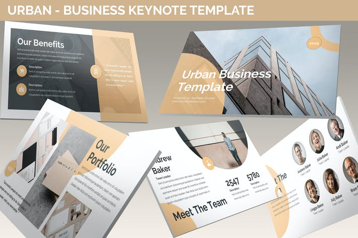 Thumbnail for Urban - Business Keynote Template