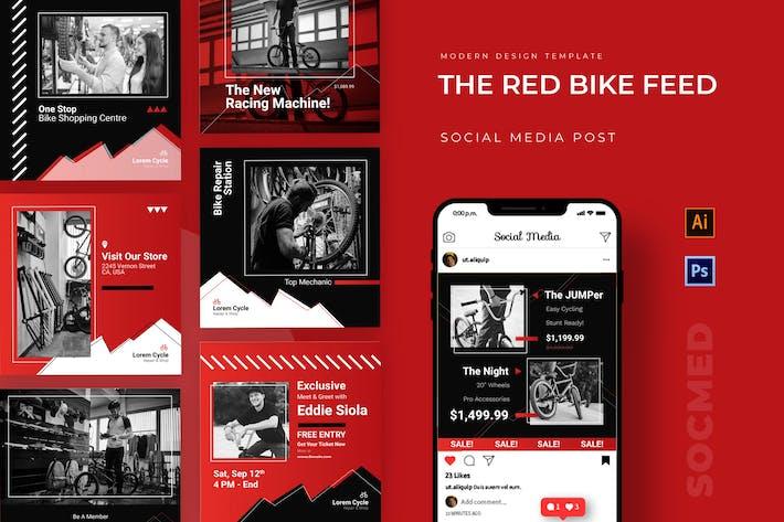 Red Bike Instagram Post
