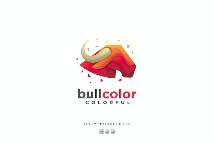 Thumbnail for Bull Head Colorful Logo