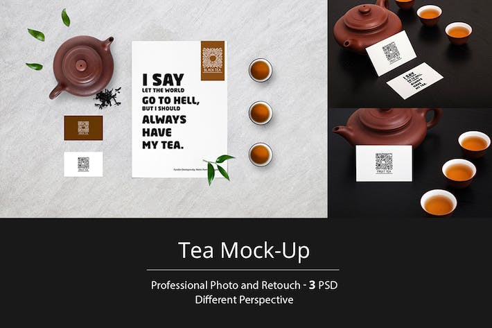 Thumbnail for Tea Stationery Mock-Up