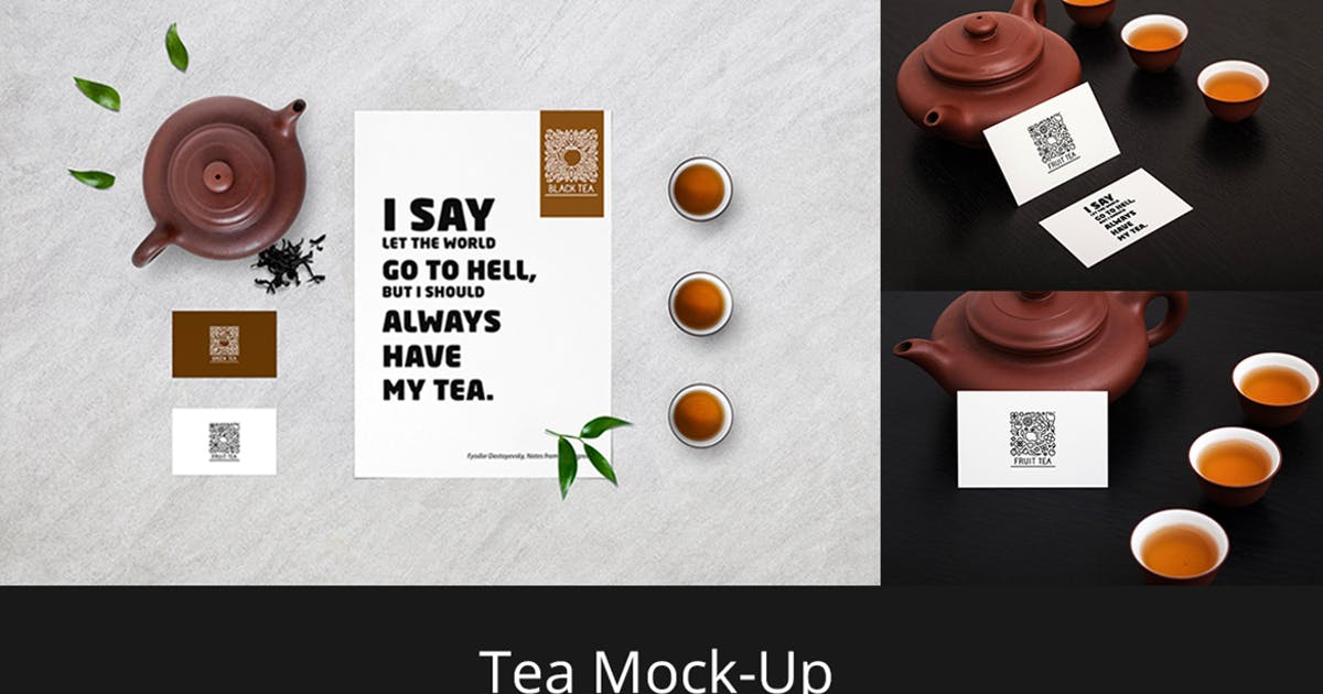Tea Stationery Mock-Up by Temaphoto