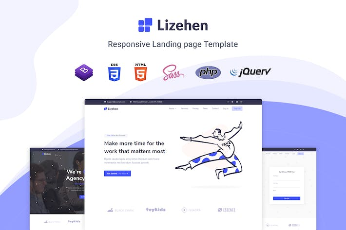 Thumbnail for Lizehen - Landing Page Template