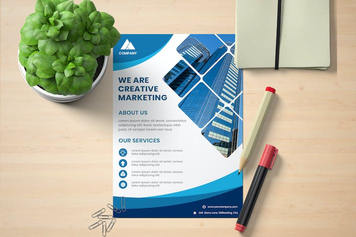 Thumbnail for Flyer Business Creative Marketing Template