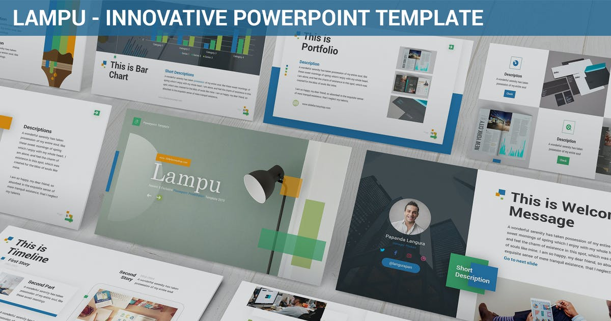 Download Lampu - Innovative Powerpoint Template by SlideFactory