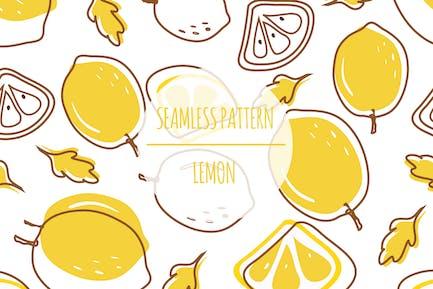 Lemon — Nahtloses Muster