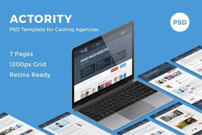 Cover Image For Actority - PSD Template for Casting Agencies