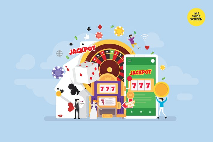 Thumbnail for Online Gambling Casino Mobile App Vector Concept