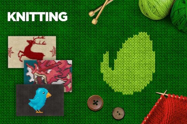 Knitting Photoshop Action CS3+