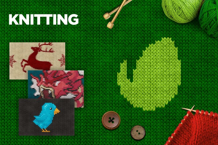 Thumbnail for Knitting Photoshop Action CS3+