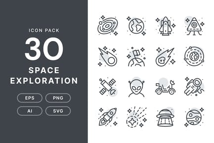 Space Exploration — Icon Pack