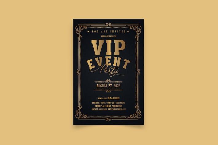 Goldene VIP-Eventparty